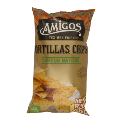 TORTILLAS CHIPS NATURE SACHET 450 GRS