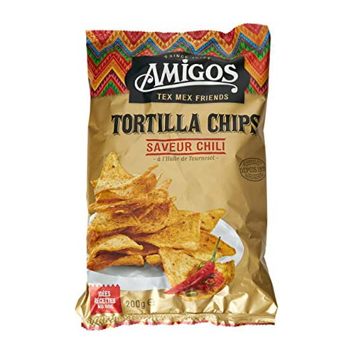 TORTILLAS CHIPS CHILI SACHET 200GRS
