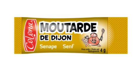 MOUTARDE 200 * 4 G DOSETTES COLONA