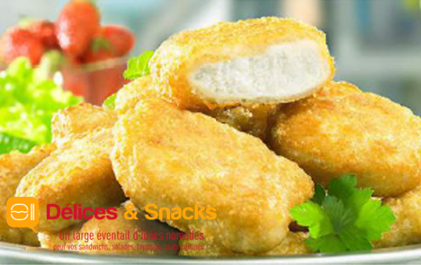 NUGGETS DE FILETS DE POULET CUITS 5 KGS HALAL